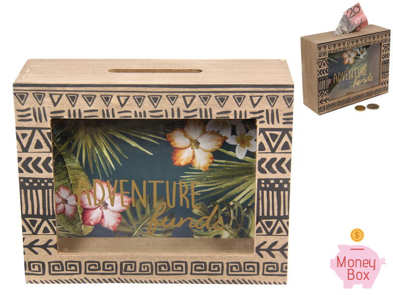 20X16CM RAINFOREST ADVENTURE FUNDS MONEY BOX