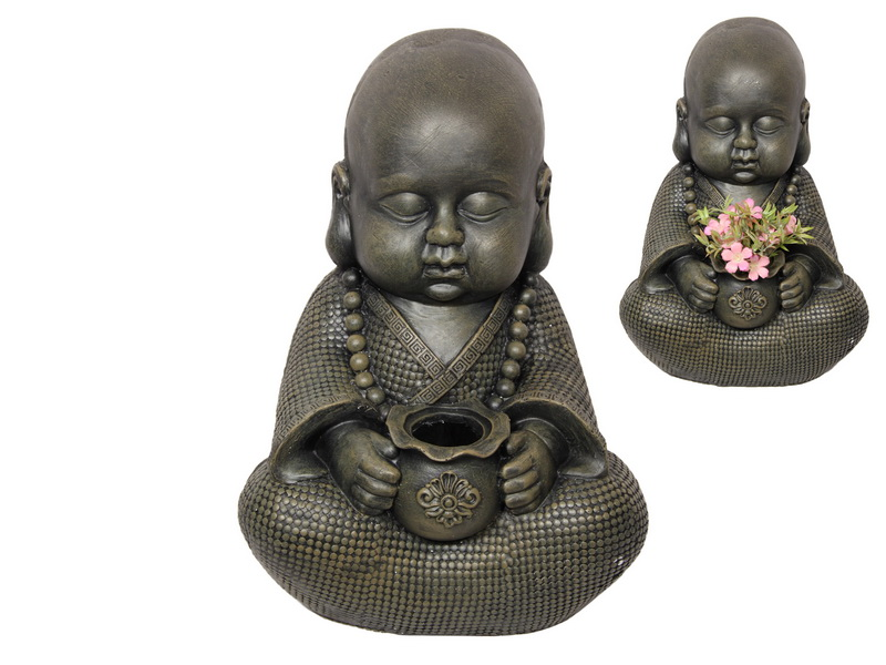 43CM CUTE GARDEN MONK PLANT HOLDER