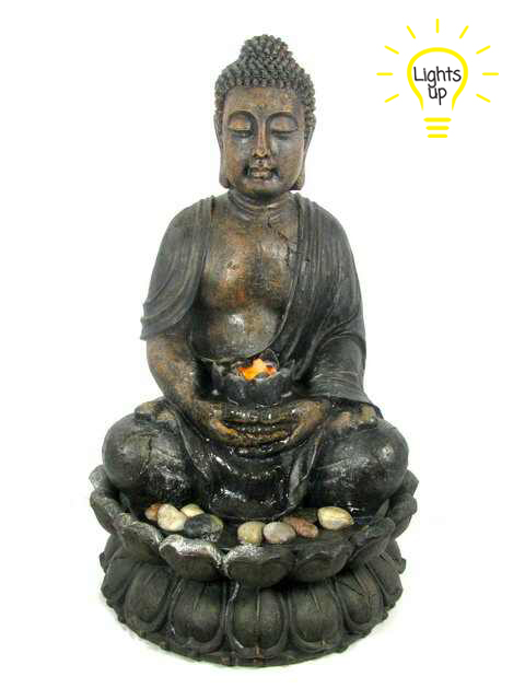 85CM LARGE BUDDHA FOUNTAIN WITH LIGHT