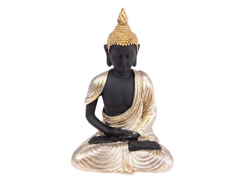 17CM RULAI BUDDHA WITH GOLD ROBE