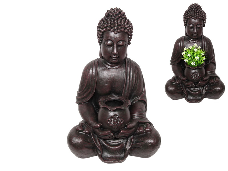 67CM SITTING RULAI BUDDHA WITH POT HOLDER