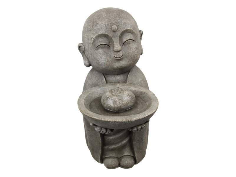 54CM STANDING JIZO BUDDHA FOUNTAIN WITH LIGHT