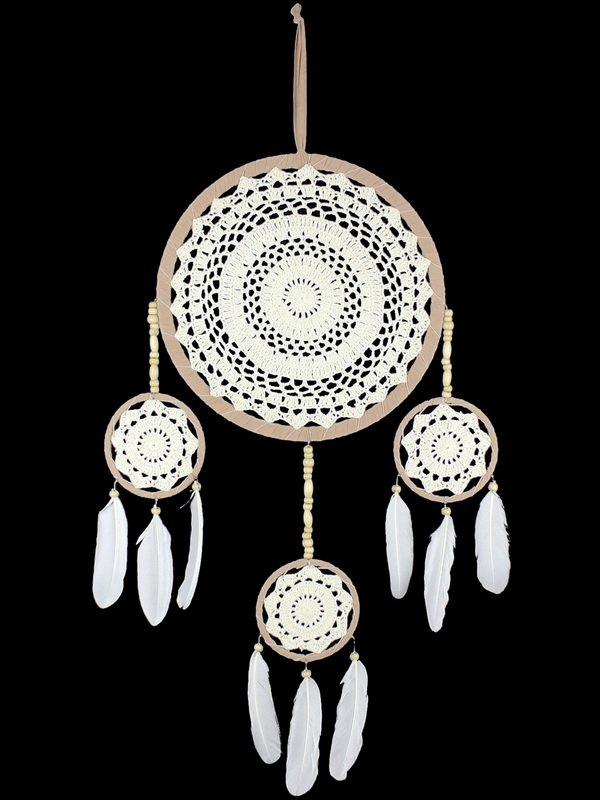 32CM DREAM CATCHER WITH TRIPLE HANGERS