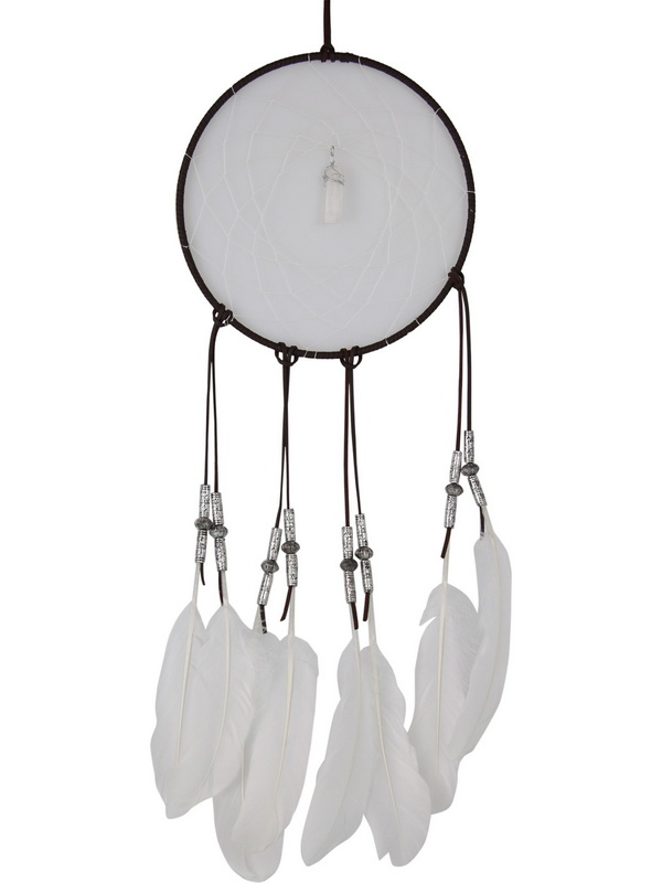 20CM SELENITE SPIRITUAL CLEANSING DREAM CATCHER