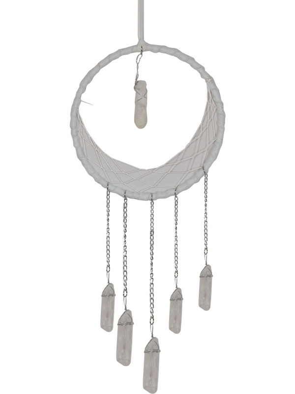 16CM SELENITE SPIRITUAL CLEANSING DREAM CATCHER