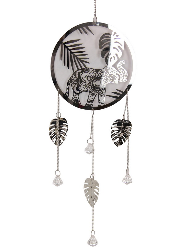 18CM ELEPHANT IN RING RAINFOREST HANGING MOBILE