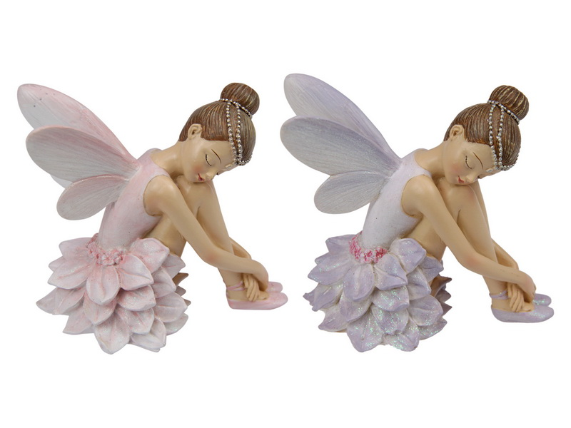 10CM RESTING FLOWER FAIRY PRINCESS 2 ASSTD