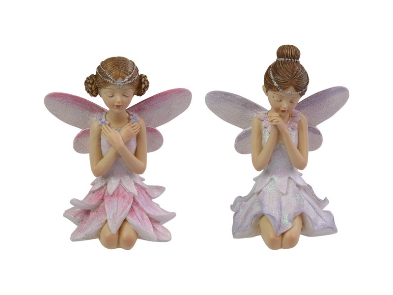 12CM KNEELING FLOWER FAIRY PRINCESS 2 ASSTD