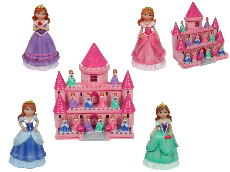 (G/BOX) 5CM FAIRY PRINCESS ON DISPLAY CASTLE 4 ASSTD (36=FREE DISPLAY)
