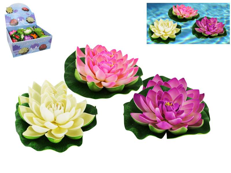 17CM FLOATING FLOWER 3 ASSTD