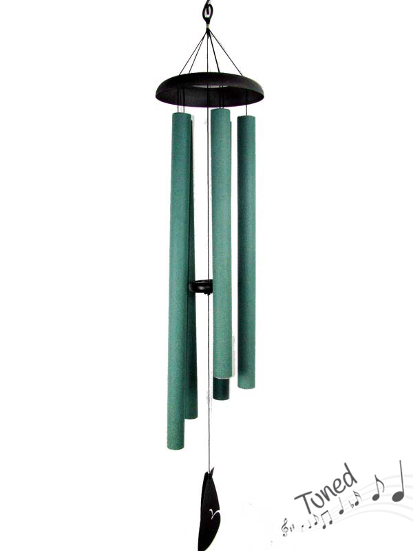 "130CM CLASSIC 5 TUBE GREEN TUNED WIND CHIME ""NATURES MELODY"""