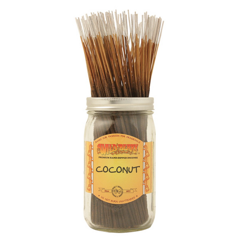 11/28CM WILD BERRY INCENSE COCONUT (200=FREE JAR)