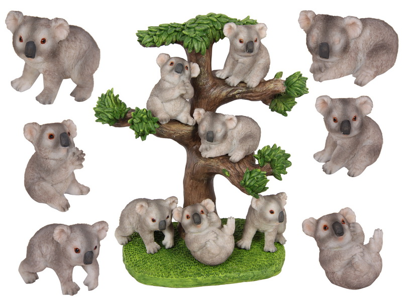 6CM BABY KOALA'S ON TREE DISPLAY 6 ASSTD  (36=FREE DISPLAY)