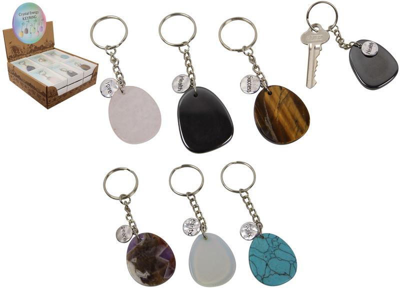 CRYSTAL ENERGY KEY RING 6 ASSTD IN DISPLAY (GIFT BOX)