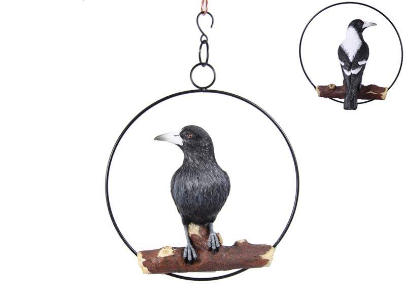 25CM REALISTIC MAGPIE IN RING