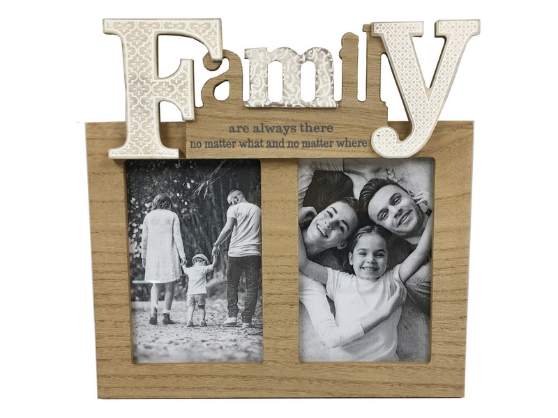 25.5CM FAMILY TWIN PHOTO FRAME