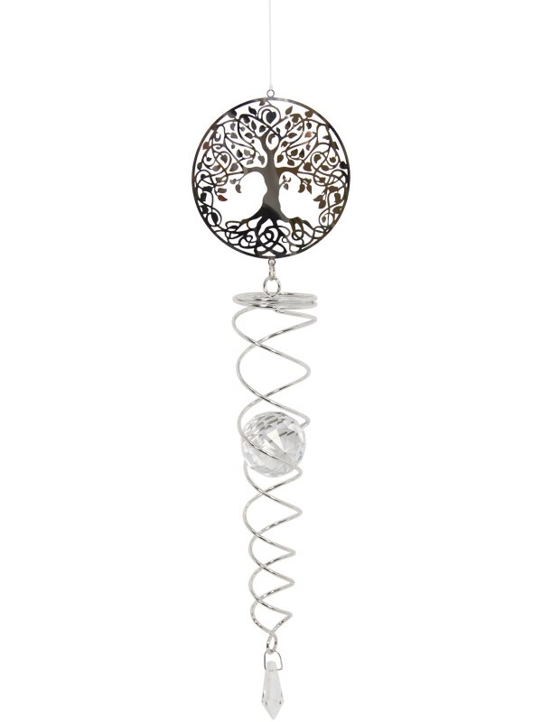 56CM TREE OF LIFE CRYSTAL VORTEX SPIRAL SPINNER