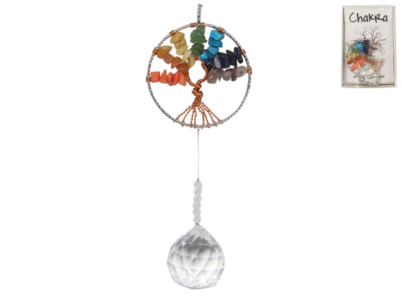 TREE OF LIFE SUNCATCHER WITH CRYSTAL 3 ASSTD IN DISPLAY (GIFT BOX)