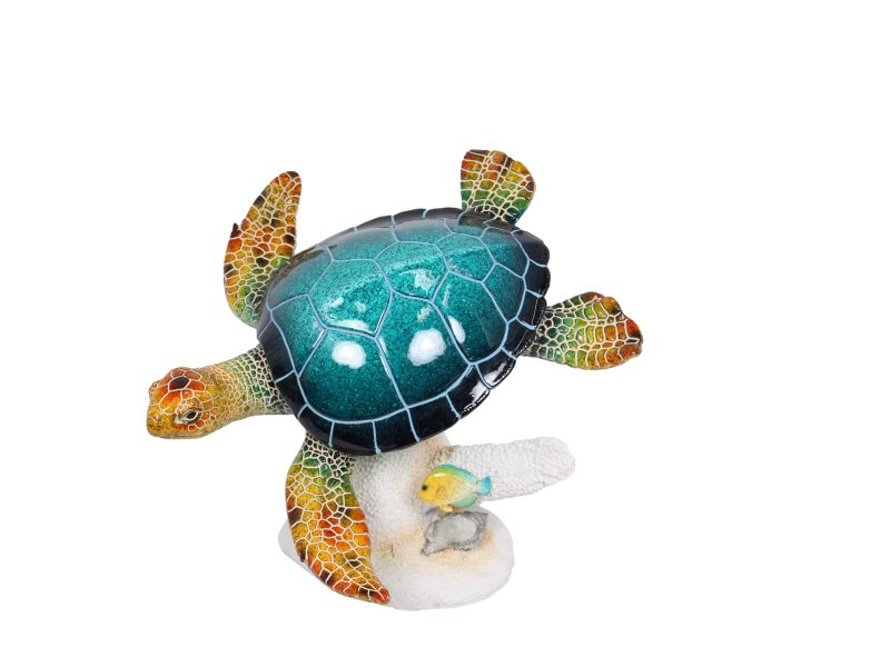 37CM TURTLE ON CORAL HOME DECOR