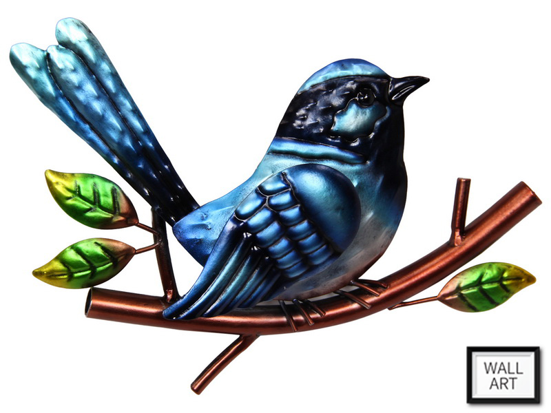 22CM BLUE FAIRY WREN PLAQUE